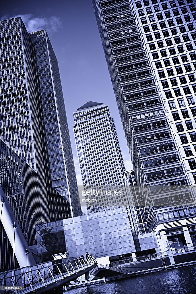 Office buildings in Canary Wharf, London : Stock Photo