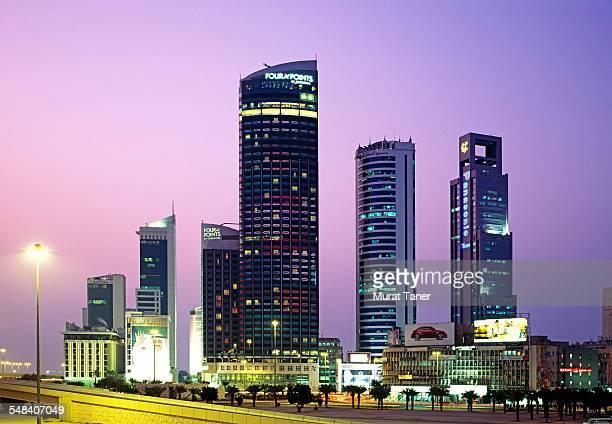 Office buildings in downtown Kuwait City