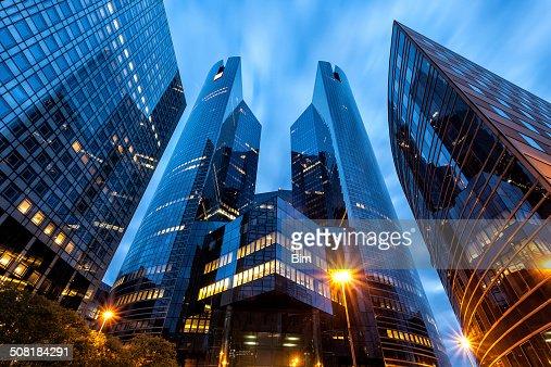 Office Buildings in Financial District La Defense, Paris, France