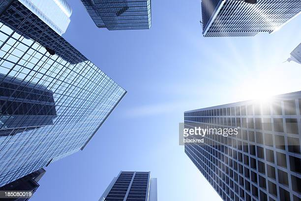 Office Buildings in the Sun