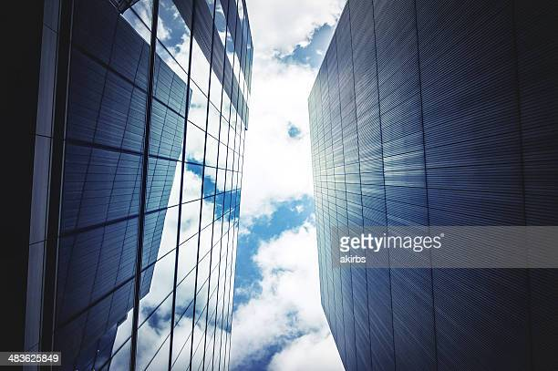 Office buildings with sky and clouds