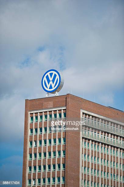 Office Builiding of Volkswagen AG headquarters on August 09 2016 in Wolfsburg Germany
