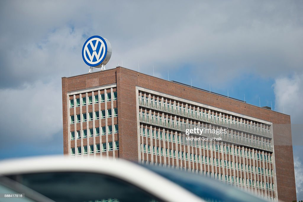Office Builiding of Volkswagen AG headquarters on August 09, 2016 in Wolfsburg, Germany.