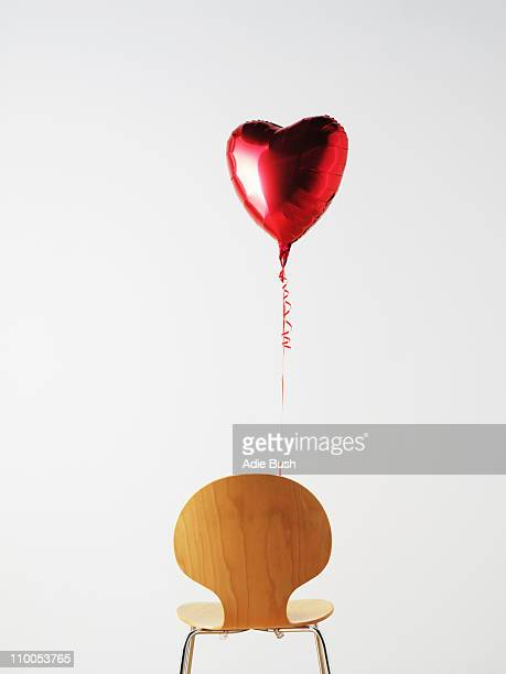 Office Chair and love heart balloon