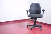 Office chair in corner