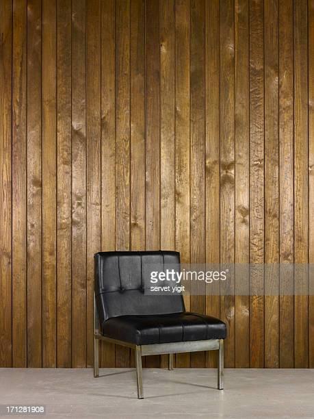 Chaise de bureau avec fond en bois