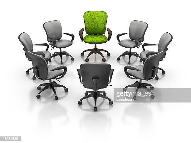 office chairs in circle