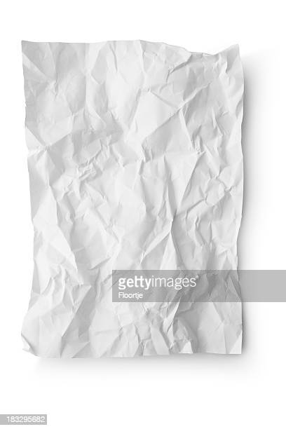 Office: Crumpled White Paper