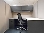 Office Cubicle in Building in Manhattan, New York, NY.