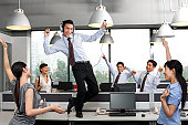Office Dancing Together