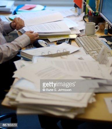 Office desk : Stockfoto
