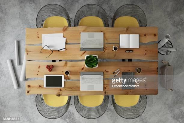 Büro Schreibtisch Team Business Gruppe knolling