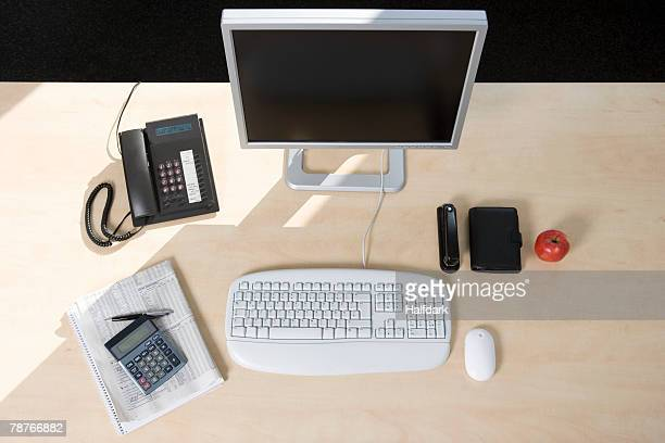 Office equipment on a desk