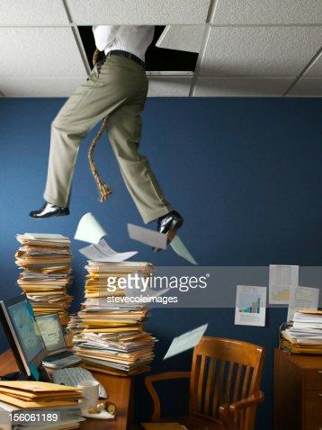 Office Escape Through Ceiling