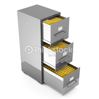 Office File Storage Isolated On White Background Stock Photo