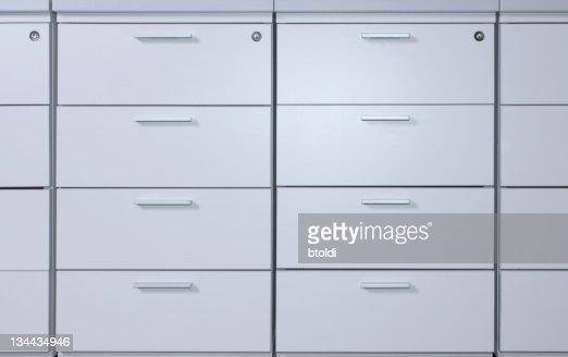 Office filing cabinets : Stock Photo