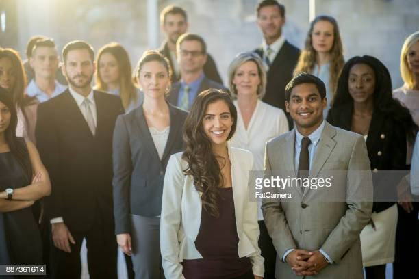 Büro-Gruppenfoto
