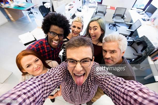 Office group selfie