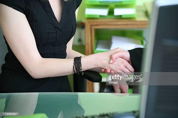 Office handshake