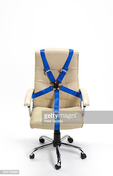 Office hot seat with seat belt