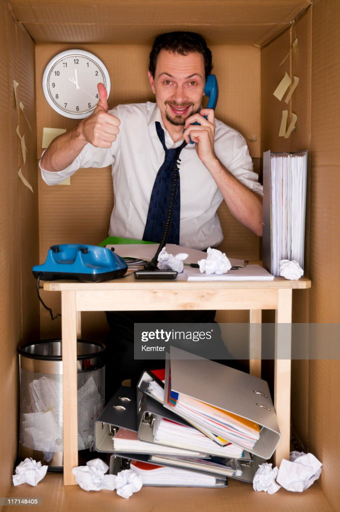 office in a box : Stock Photo
