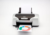 Office laser printing a colored graphic
