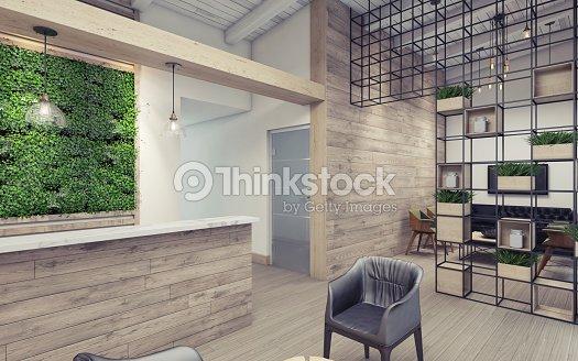 Parete Verde Ufficio : Ufficio hall con parete verde foto stock thinkstock