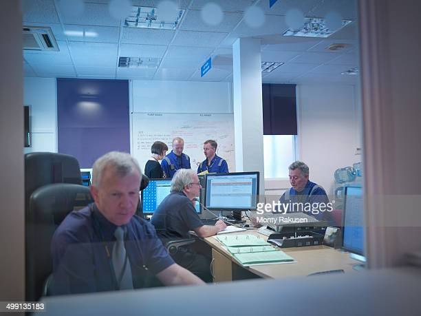Office meeting in nuclear power station