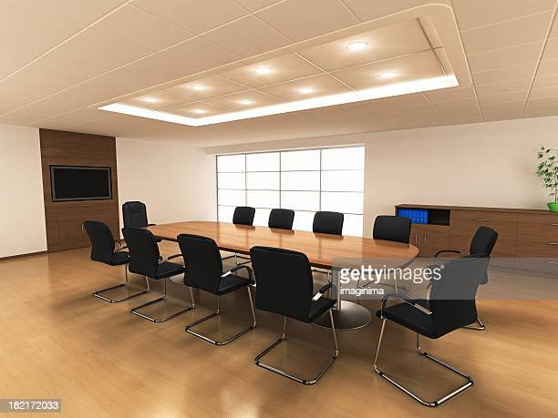 オフィスのミーティングルームのインテリア