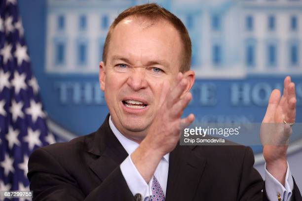 Office of Management and Budget Director Mick Mulvaney holds a news conference to discuss the Trump Administration's proposed FY2017 federal budget...