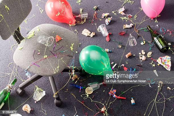 office party detritus