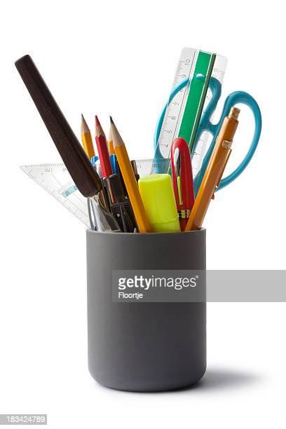 Büro:  Bleistift-Halter mit Inhalt