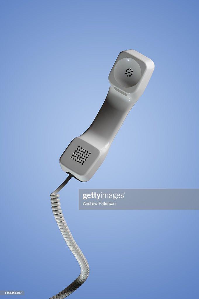 Office phone handset : Stock Photo
