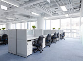 modern office interior,clean and bright.