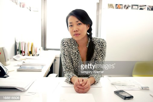 Office portrait of a woman stock photo getty images - Office portrait photography ...