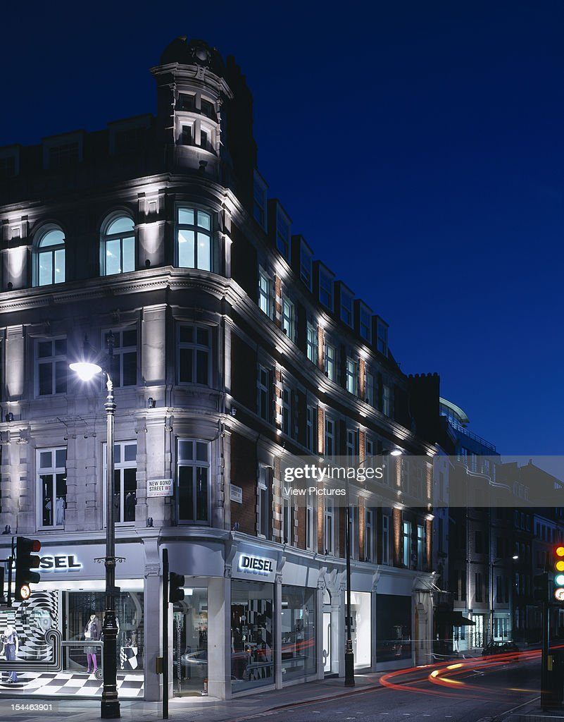 Office Retail Development W1 London United Kingdom Architect Hdg Office Retail Development W1 Exterior View At Dusk