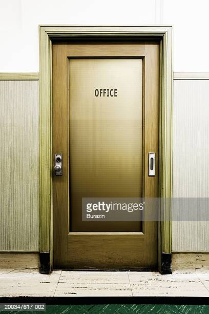 'Office' sign on door