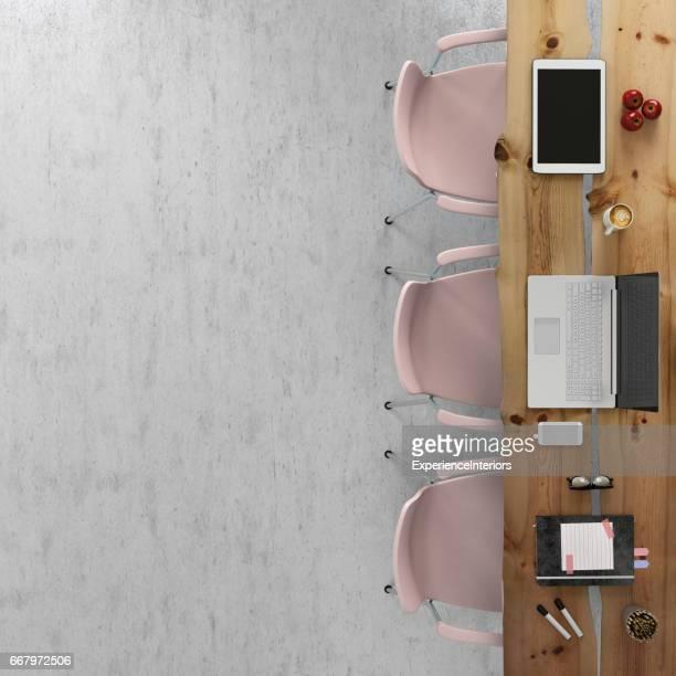 Plantilla de la knolling oficina equipo escritorio negocio copia espacio