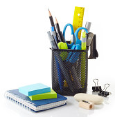 Office tools isolated on white background