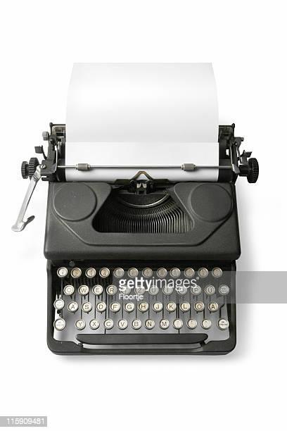 Office: Typewriter Isolated on White Background