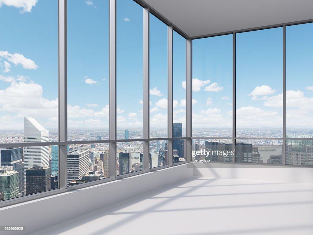 office with big window : Stock Photo
