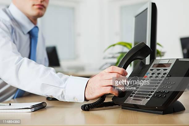 Office worker 、留守番電話付きの電話