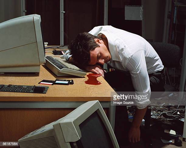 Office worker dead at his desk