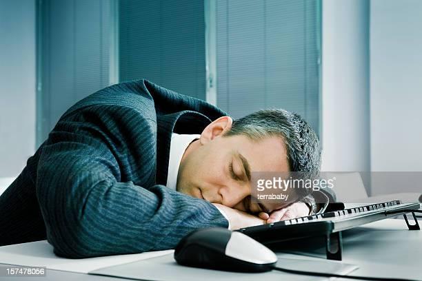 Office Worker Fast Asleep