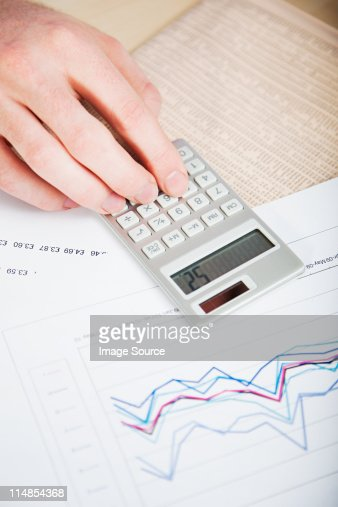 Office Worker Using Calculator Stock Photo Getty Images