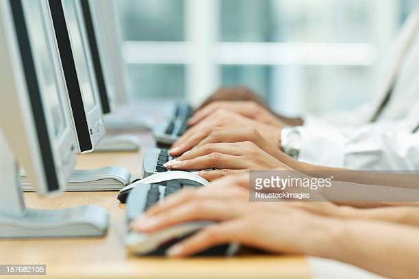 Office Workers Using Computers