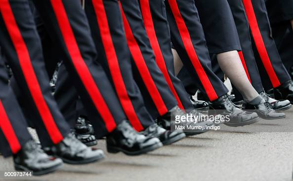 Officer Cadets takes part in the Sovereign's Parade at the Royal Military Academy Sandhurst on December 11 2015 in Camberley England The Sovereign's...