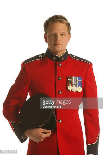 Officer in dress uniform