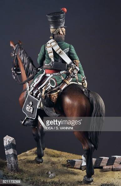 Officer of the 1st Eclaireurs regiment of the Imperial Guard 54 cm toy soldier from the Napoleonic era made by Danilo Cartacci France 19th century...