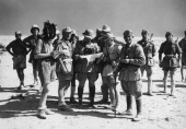 Officers and commanders of ItalianGerman units operating in the area of Tobruk on the Egyptian front Libya August 1941